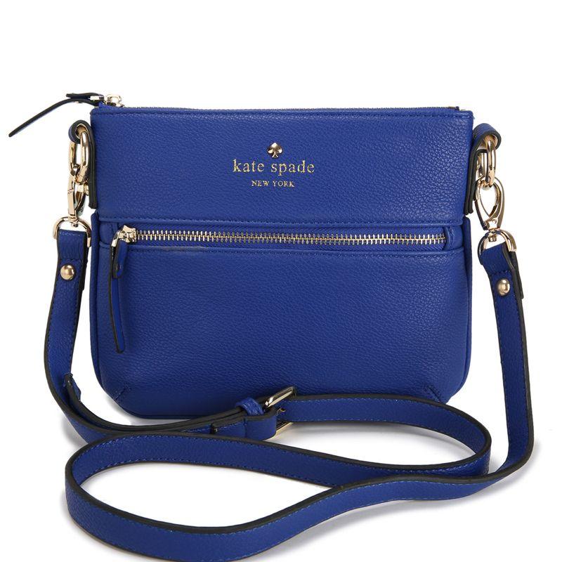 Kate Spade New York Cobble Hill Tenley Crossbody Leather Bag Deepblue